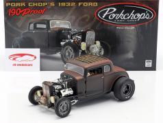 Ford Hot Rod Pork Chops Anno di costruzione 1932 nero / Marrone 1:18 GMP