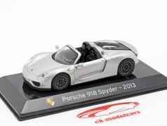 Porsche 918 Spyder year 2013 liquid silver 1:43 Altaya