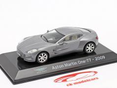 Aston Martin One-77 Bouwjaar 2009 Zilver grijs metalen 1:43 Altaya