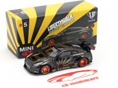 LB-Works Nissan GT-R (R35) Type 1 noir / cuivre jantes 1:64 TrueScale