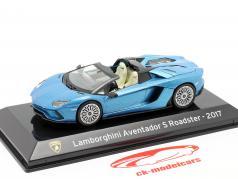 Lamborghini Aventador S Roadster Año de construcción 2017 azul metálico 1:43 Altaya