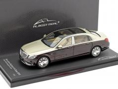 Mercedes-Maybach Classe S 2019 rubis noir / aragonite argent 1:43 Almost Real