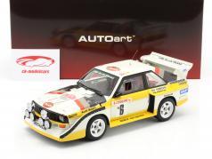 Audi Sport Quattro S1 #6 Rallye Monte Carlo 1986 Mikkola, Hertz 1:18 AUTOart