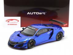 Honda NSX GT3 Byggeår 2018 hyper blå 1:18 AUTOart