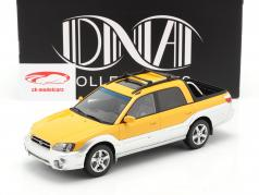 Subaru Baja Pick-Up year 2003 yellow / silver 1:18 DNA Collectibles