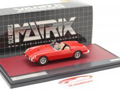 Ferrari 250 GT Cabriolet Series I Pininfarina Byggeår 1957 rød 1:43 Matrix