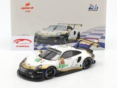 Porsche 911 RSR GTE #91 2º LMGTE Pro 24h LeMans 2019 Porsche GT Team 1:18 Spark