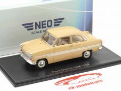 Ford Taunus 12M Année de construction 1959 beige / blanc 1:43 Neo