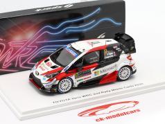 Toyota Yaris WRC #17 2e Rallye Monte Carlo 2020 Ogier, Ingrassia 1:43 Spark