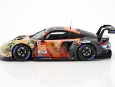 Porsche 911 RSR #56 Ganador de la clase LMGTE Am 24h LeMans 2019 Team Project 1 1:18 Spark