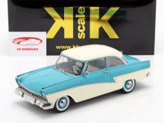 Ford Taunus 17M P2 Bouwjaar 1957 turkoois / Wit 1:18 KK-Scale