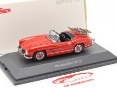 Mercedes-Benz 300 SL Roadster (W198) 滑雪假期 建设年份 1957-1963 红 1:43 Schuco