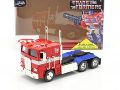 Autobot G1 Optimus Prime Movie Transformers (2007) red / blue 1:24 Jada Toys