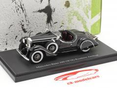 Mercedes-Benz 290 (W18) Coche de turismo Amilcar Año de construcción 1933 negro 1:43 AutoCult