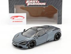 Shaw's McLaren 720S filme Fast & Furious Hobbs & Shaw (2019) cinza metálico 1:24 Jada Toys