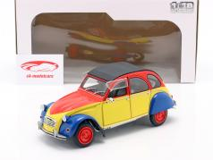Citroen 2CV6 Ricard year 1985 yellow / red / blue 1:18 Solido