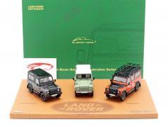 3-Car Set Land Rover Defender 2015 Celebration Series 1:43 Almost Real