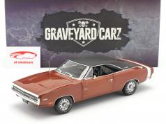 Dodge Charger R/T 1970 TV-Show Graveyard Carz (da 2012) buio arancia 1:18 Greenlight