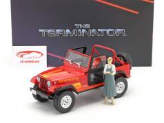 Jeep CJ-7 Renegade 1983 Movie Terminator (1984) With figure 1:18 Greenlight