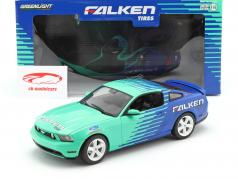 Ford Mustang GT Falken Tires 2010 azul / verde 1:18 Greenlight