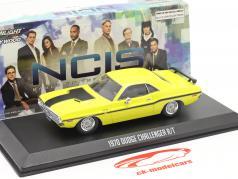 Dodge Challenger R/T 1970 TV-Serie NCIS (seit 2004) gelb 1:43 Greenlight