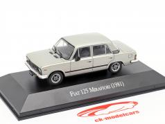 Fiat 125 Mirafiori Bouwjaar 1981 zilver 1:43 Altaya