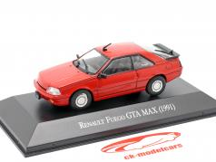 Renault Fuego GTA MAX Année de construction 1991 rouge 1:43 Altaya