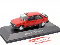 Renault 11 Turbo Bouwjaar 1986 rood 1:43 Altaya