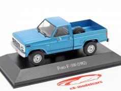 Ford F-100 pick-up år 1982 blå 1:43 Altaya
