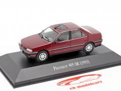 Peugeot 405 SR Baujahr 1993 Bourgondië rood 1:43 Altaya