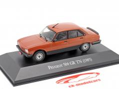 Peugeot 504 GR TN Bouwjaar 1985 koper metalen 1:43 Altaya