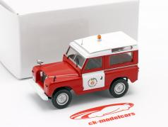 Land Rover II Feuerwehr Barcelona rot / weiß 1:43 Altaya