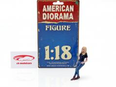 Car Girl Rachel figure 1:18 American Diorama