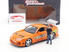 Brian's Toyota Supra 1995 Movie Fast & Furious (2001) with figure 1:24 Jada Toys