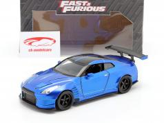 Brian's Nissan GT-R (R35) Ben Sopra 2009 Fast and Furious 蓝色 1:24 Jada Toys