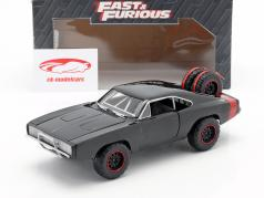 Dodge Charger R/T Offroad Ano 1970 Fast and Furious 7 preto 1:24 Jada Toys
