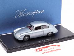 Lindner Porsche prototype year 1953 silver blue 1:43 AutoCult