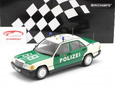 Mercedes-Benz 190E (W201) Police year 1982 green / white 1:18 Minichamps