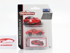 Porsche 911 Carrera S Feria de juguetes Nuremberg 2020 rojo 1:64 Majorette