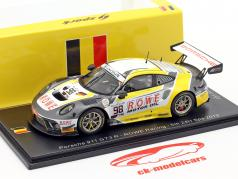 Porsche 911 GT3 R #98 第五名 24h Spa 2019 Rowe Racing 1:43 Spark