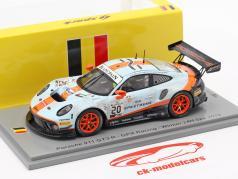 Porsche 911 GT3 R #20 优胜者 24h Spa 2019 脏 种族 版 1:43 Spark