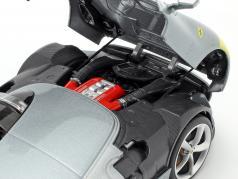 Ferrari Monza SP1 year 2019 grey metallic / yellow 1:18 Bburago