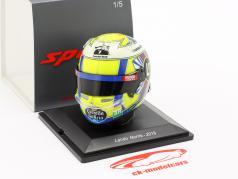 Lando Norris McLaren MCL34 #4 fórmula 1 2019 casco 1:5 Spark