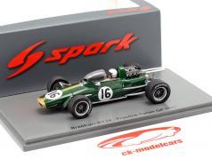 Jack Brabham Brabham BT24 #16 Entraine toi italien GP formule 1 1967 1:43 Spark