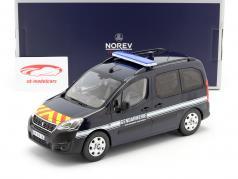 Peugeot Partner Gendarmerie Baujahr 2018 dunkelblau 1:18 Norev