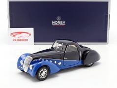 Peugeot 302 Darl'Mat Coupe Baujahr 1937 blau / dunkelblau 1:18 Norev