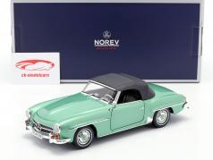 Mercedes-Benz 190 SL Bouwjaar 1957 licht groen metalen 1:18 Norev