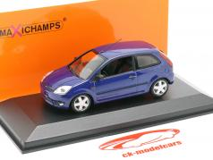 Ford Fiesta Baujahr 2002 blau metallic 1:43 Minichamps