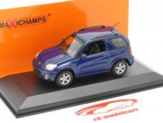 Toyota RAV4 Année de construction 2000 bleu foncé métallique 1:43 Minichamps