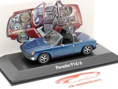 Porsche 914/6 Ano de construção 1973 azul metálico 1:43 Spark